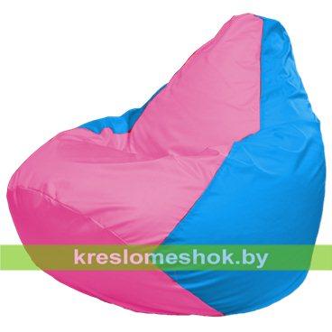 Кресло-мешок Груша Макси Г2.1-202 (основа голубая, вставка розовая)