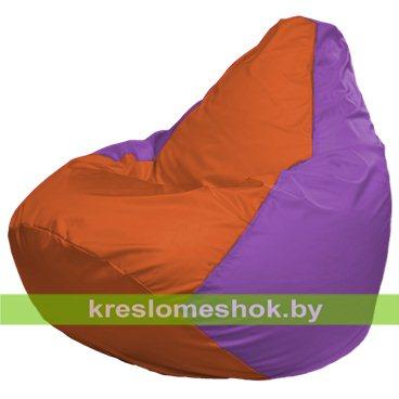 Кресло-мешок Груша Макси Г2.1-206 (основа сиреневая, вставка оранжевая)