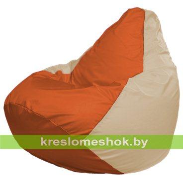 Кресло-мешок Груша Макси Г2.1-207 (основа бежевая, вставка оранжевая)