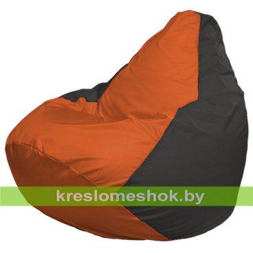 Кресло-мешок Груша Макси Г2.1-210 (основа серая тёмная, вставка оранжевая)