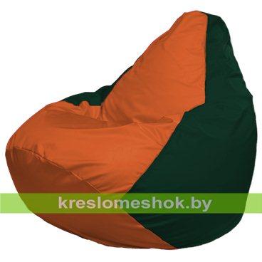 Кресло-мешок Груша Макси Г2.1-212 (основа зелёная тёмная, вставка оранжевая