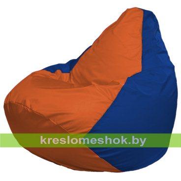 Кресло-мешок Груша Макси Г2.1-213 (основа синяя, вставка оранжевая)