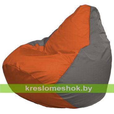 Кресло-мешок Груша Макси Г2.1-214 (основа серая, вставка оранжевая)