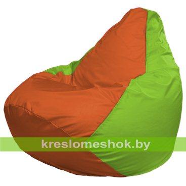 Кресло-мешок Груша Макси Г2.1-215 (основа салатовая, вставка оранжевая)