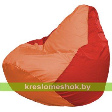 Кресло-мешок Груша Макси Г2.1-217 (основа красная, вставка оранжевая)