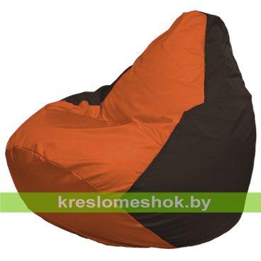 Кресло-мешок Груша Макси Г2.1-218 (основа коричневая, вставка оранжевая)