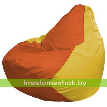 Кресло-мешок Груша Макси Г2.1-219 (основа жёлтая, вставка оранжевая)