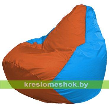 Кресло-мешок Груша Макси Г2.1-220 (основа голубая, вставка оранжевая)