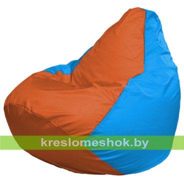 Кресло-мешок Груша Макси Г2.1-221 (вставка голубая, вставка оранжевая)