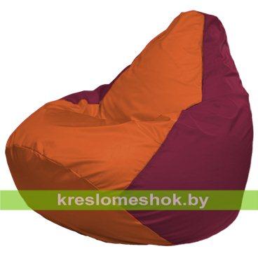 Кресло-мешок Груша Макси Г2.1-222 (основа бордовая, вставка оранжевая)