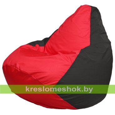 Кресло-мешок Груша Макси Г2.1-232 (основа чёрная, вставка красная)