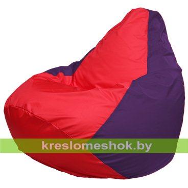 Кресло-мешок Груша Макси Г2.1-233 (основа фиолетовая, вставка красная)