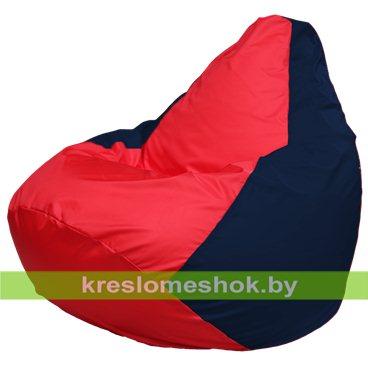 Кресло-мешок Груша Макси Г2.1-234 (основа синяя тёмная, вставка красная)