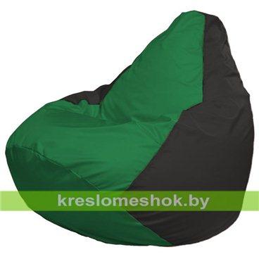 Кресло-мешок Груша Макси Г2.1-235 (основа чёрная, вставка зелёная)