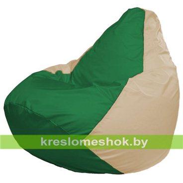 Кресло-мешок Груша Макси Г2.1-240 (основа бежевая, вставка зелёная)