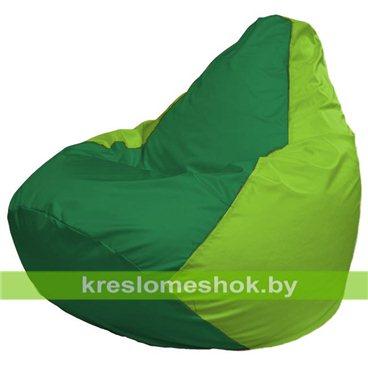 Кресло-мешок Груша Макси Г2.1-241 (основа салатовая, вставка зелёная)