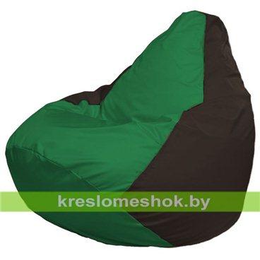 Кресло-мешок Груша Макси Г2.1-242 (основа коричневая, вставка зелёная)