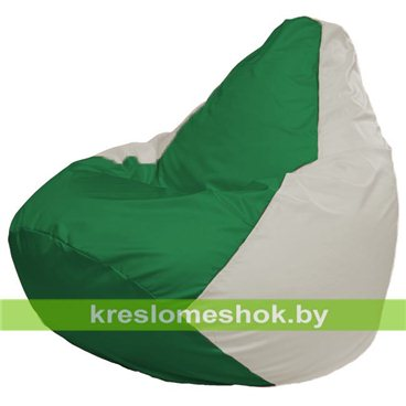 Кресло-мешок Груша Макси Г2.1-244 (основа белая, вставка зелёная)