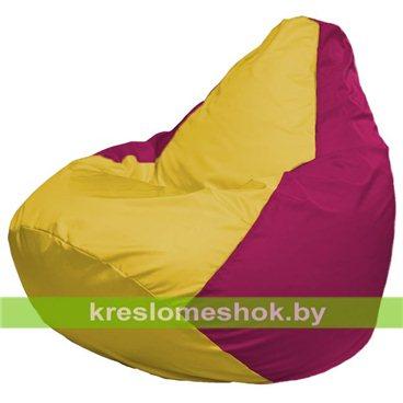 Кресло-мешок Груша Макси Г2.1-246 (основа фуксия, вставка жёлтая)