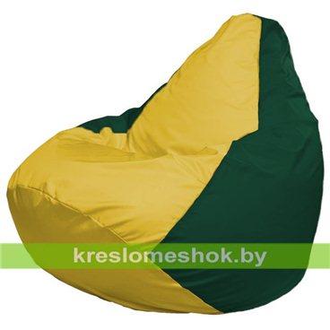 Кресло-мешок Груша Макси Г2.1-251 (основа зелёная тёмная, вставка жёлтая)