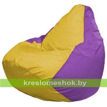 Кресло-мешок Груша Макси Г2.1-253 (основа сиреневая, вставка жёлтая)