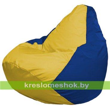 Кресло-мешок Груша Макси Г2.1-254 (основа синяя, вставка жёлтая)