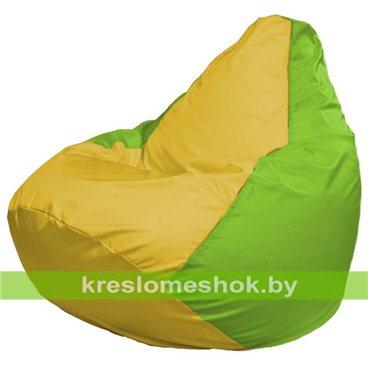 Кресло-мешок Груша Макси Г2.1-256 (основа салатовая, вставка жёлтая)