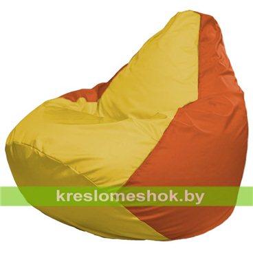 Кресло-мешок Груша Макси Г2.1-258 (основа оранжевая, вставка жёлтая)