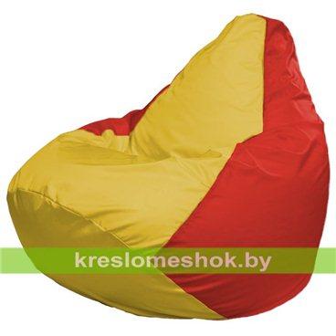 Кресло-мешок Груша Макси Г2.1-260 (основа красная, вставка жёлтая)