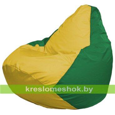 Кресло-мешок Груша Макси Г2.1-262 (основа зелёная, вставка жёлтая)