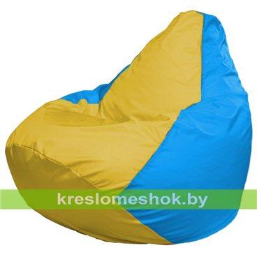 Кресло-мешок Груша Макси Г2.1-263 (основа голубая, вставка жёлтая)