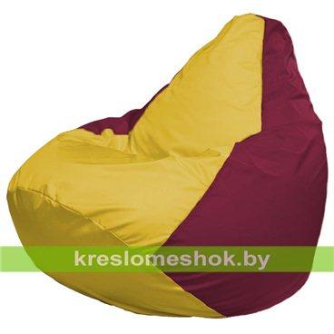 Кресло-мешок Груша Макси Г2.1-265 (основа бордовая, вставка жёлтая)
