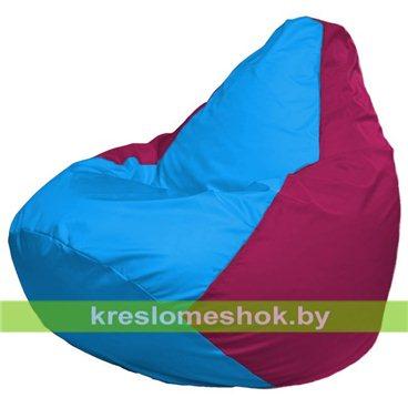 Кресло-мешок Груша Макси Г2.1-268 (основа фуксия, вставка голубая)