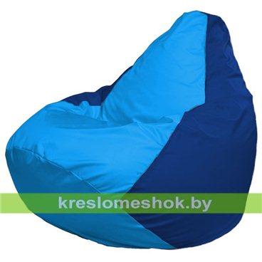 Кресло-мешок Груша Макси Г2.1-273 (основа синяя, вставка голубая)