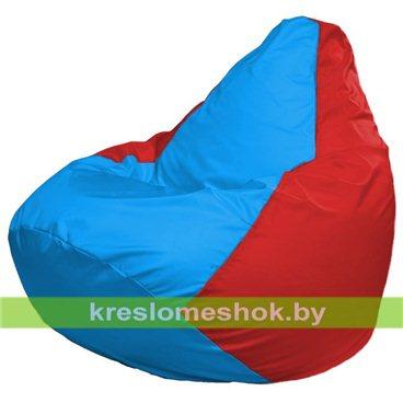 Кресло-мешок Груша Макси Г2.1-279 (основа красная, вставка голубая)