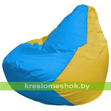 Кресло-мешок Груша Макси Г2.1-280 (основа жёлтая, вставка голубая)