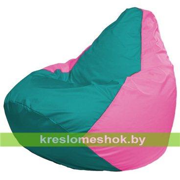 Кресло-мешок Груша Макси Г2.1-295 (основа розовая, вставка бирюзовая)