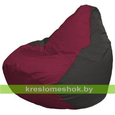 Кресло-мешок Груша Макси Г2.1-300 (основа серая тёмная, вставка бордовая)