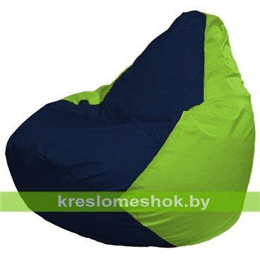 Кресло-мешок Груша Макси Г2.1-43 (основа салатовая, вставка синяя тёмная)