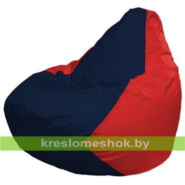 Кресло-мешок Груша Макси Г2.1-46 (основа красная, вставка синяя тёмная)