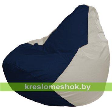 Кресло-мешок Груша Макси Г2.1-51 (основа белая, вставка синяя тёмная)