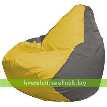 Кресло-мешок Груша Макси Г2.1-34 (основа серая, вставка жёлтая)