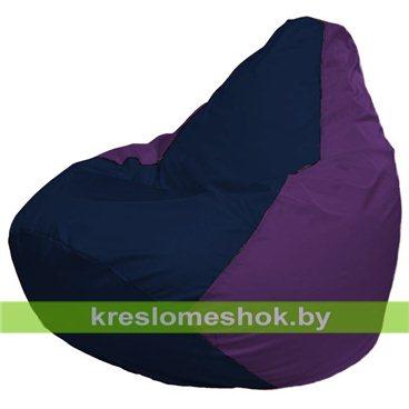 Кресло-мешок Груша Макси Г2.1-38 (основа фиолетовая, вставка синяя тёмная)