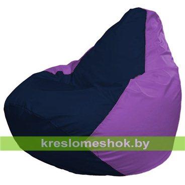 Кресло-мешок Груша Макси Г2.1-40 (основа фиолетовая, вставка синяя тёмная)