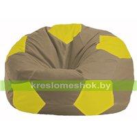 Кресло мешок Мяч бежевый - жёлтый М 1.1-95