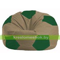 Кресло мешок Мяч бежевый - зелёный М 1.1-94