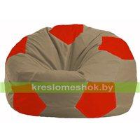 Кресло мешок Мяч бежевый - красный М 1.1-92