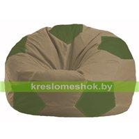 Кресло мешок Мяч бежевый - оливковый М 1.1-91