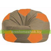 Кресло мешок Мяч бежевый - оранжевый М 1.1-90