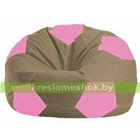 Кресло мешок Мяч бежевый - розовый М 1.1-89